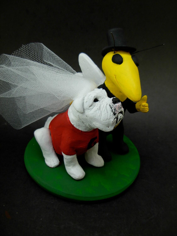Georgia Bulldog Football Wedding Cake Topper Tech Buzz