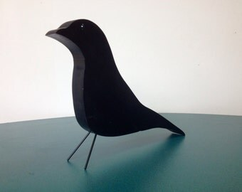 Black bird wooden nature object by Jonathan Sebastian