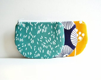 Coin Purse, Small Zipper Pouch, Choice of Colors, Women and Teens, Lotta Jansdotter Echo