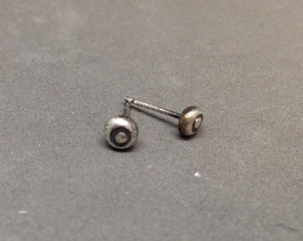 Sterling silver stud earrings studs simple studs silver studs recycled sterling silver studs