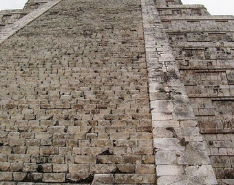 Stairway to the Gods. The Temple of Kukulkan. Chichen Itza, Mexico