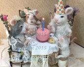 Mouse Family Birthday Card
