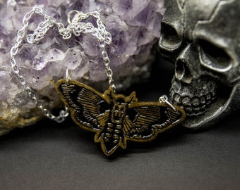 Death's Head Hawk Moth - Silence Of The Lambs - Necklace