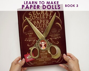 """Book 3 - Make Paper Dolls and Paper Puppets How-To Paper Craft Book. Secret Society of Paper Cuts. More Info? Scroll & Read """"Item Details"""""""