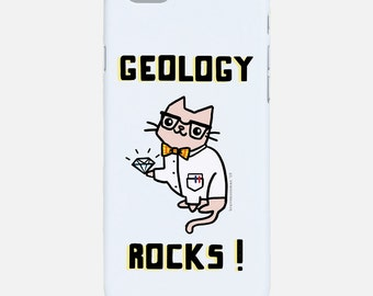Geology Rocks iPhone 6s Case Science Cat Cute Samsung Galaxy Note 4 Galaxy S5 Case