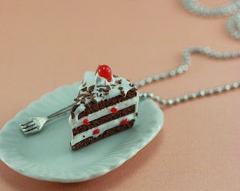 Black Forest Cake Necklace