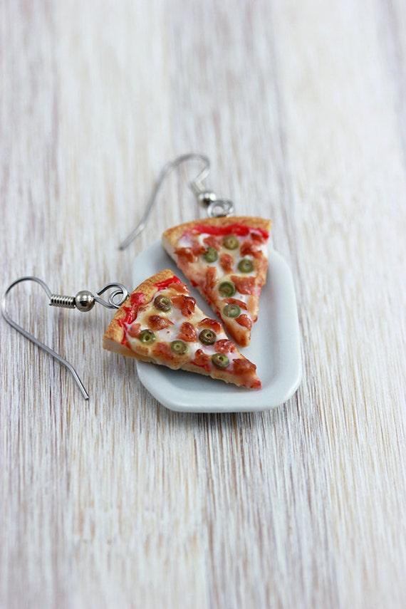 Bacon Pizza Earrings