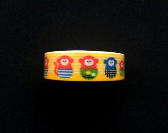 Japanese Masking Tape - Monkey Masking Tape -  Traditional Japanese - Dharma Doll Tape -  Year of the Monkey