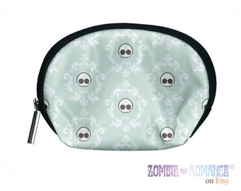 SKull Damask Cosmetic Bag