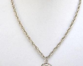 Faux Turquoise Pendant Necklace, 1960s Necklace, Vintage Pendant, Pendant Necklace, Turquoise Jewelry, Necklace, Turquoise Pendant
