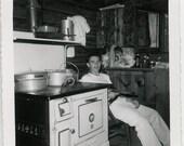 vintage photo Teenage Young Man Points Gun holster Cabin Boy snapshot photo