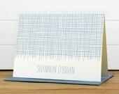 Custom Stationery / Custom Stationary - LINEN Custom Note Card Set - Modern Masculine