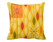 Rain Square Pillow in Fall Winter Spring or Summer 16x16 or 20x20 - Polyester or Cotton Your Choice with Free US Shipping