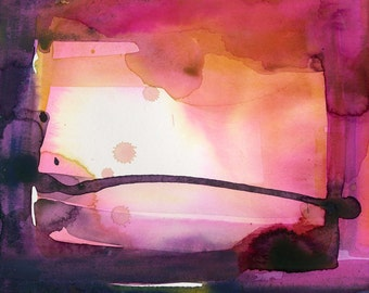 Introspection No.13 ... Original Abstract Watercolor painting by Kathy Morton Stanion EBSQ