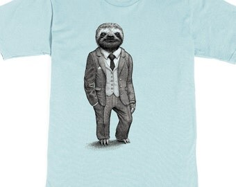 Sloth Shirt - Animal Tshirt - Birthday Gift Men - Stylish Sloth Graphic Tee - Men's Shirt - Animal Art - Scatterbrain Tees