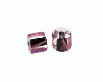 David Christensen Beads Chubs Pink & Black Pair C186