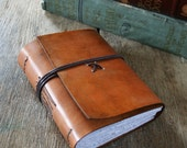 "Leather Journal . ""To be nobody but yourself...""  -e.e. cummings quote . handbound handmade . hand-dyed brown (320 pgs)"
