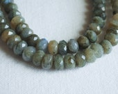 DESTASH Faceted Labradorite Rondelle Beads Full Strand 5x8mm