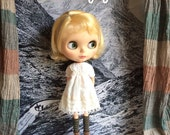 Sunday Dress for Blythe - Vintage white