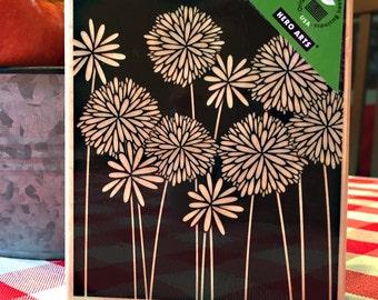 Hero Arts - NEW Flower Medley - Wood Mounted Stamp