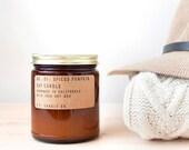 No. 01: SPICED PUMPKIN - 7.2 oz soy wax candle - pumpkin spice / cinnamon and nutmeg - P.F. Candle Co.