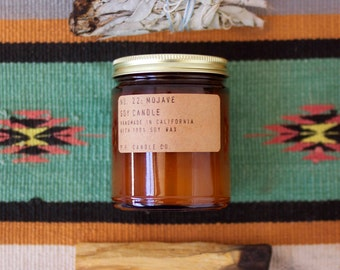 No. 22: MOJAVE - 7.2 oz soy wax candle - cedarwood  / dry desert air / creosote - P.F. Candle Co.