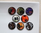 Halloween Polymer Clay Buttons (8)