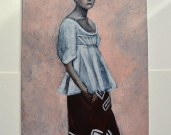 Special price - Celine - original painting on board