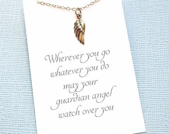 Miscarriage Necklace | Angel Wing Necklace, Loss of a Child, Miscarriage Quote, Infant Loss Jewelry, Sympathy Gift, Condolence | R03
