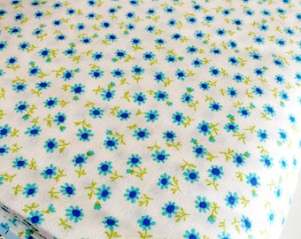 SALE fabric, Japanese fabric, Sevenberry fabric, Petite Classics, Tiny Print,  Doll clothes, Mini Flower in Blue, Choose your cut