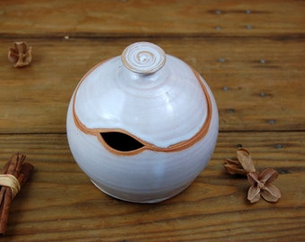 Sugar Bowl / Honey Jar in Shale- Made to Order