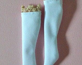 Gold lace socks for Blythe doll