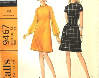UNCUT Dress with Corded Piping at Hem and Neck Bust 34 Size 12