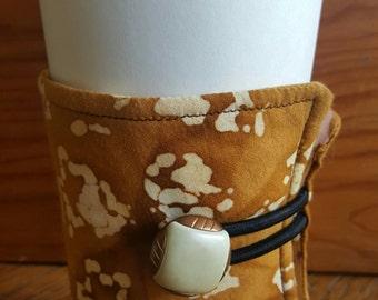 Washed Mustard Colored Coffee/Tea Java Jacket