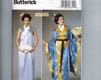 Misses Sewing Pattern Butterick B6267 6267 Making History Costume Japanese Japan Geisha Kimono Size 6-14 or 14-22 Multisize UNCUT