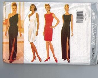 1990s Vintage Sewing Pattern Butterick 4300 Misses Easy Slinky Evening Dress Slim with Fringe Cocktail Size 6 8 10 12 Bust 30 31 32 34 UNCUT