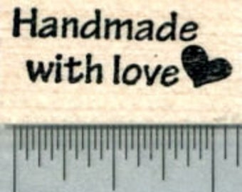 Handmade with Love Rubber Stamp A30614 Wood Mounted