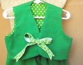 Children's St Patricks Day leprechaun,  Mardi Gras costume, toddler size 2
