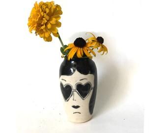 Heart sunglasses vase