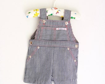 Vintage Healthtex infant overalls engineer stripe size 6 to 9 months