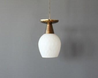 White Glass Pendant Ceiling Light