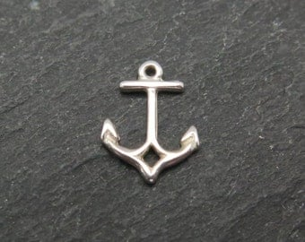 Sterling Silver Anchor Charm 10mm (CG7804)