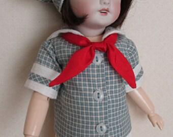 For Bleuette Big Sister, Rosette - Sailor Blouse, Beret  and Pleated Skirt