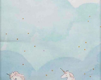 Sarah Jane Unicorn Parade Double Border Michael Miller Fabric 1 yard
