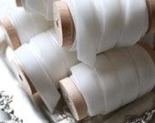 "White Velvet Ribbon, 1/2"" Velvet Ribbon, Velvet Ribbon Spool, 3 yards, Velvet Ribbon, White Ribbon"