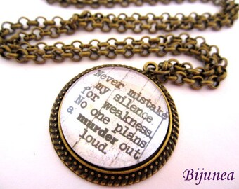 Quotes necklace - Phrases necklace - Quotes necklace - Phrases necklace n677