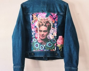 Frida Kahlo Denim Art Jacket