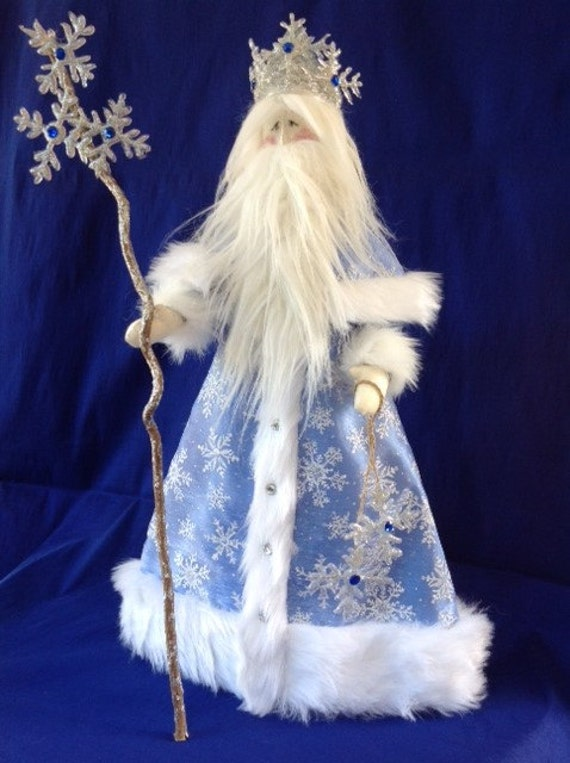 "Cloth Doll E-Pattern Old Man Winter 21 1/2"" Holiday Art Doll"