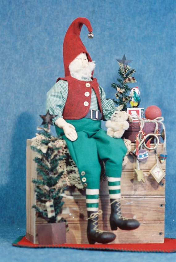 Mailed Cloth Doll Pattern - 24in Christmas Elf Doll