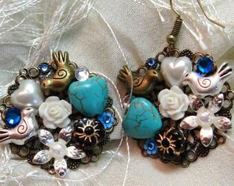True Blue Bouquet Becca Earrings